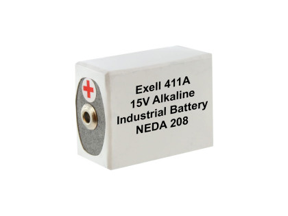 Exell Battery 411A NEDA 208 Alkaline 15V