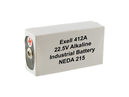 Exell Battery 412A NEDA 215 Alkaline 22.5V