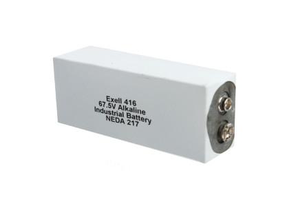 Exell Battery 416A NEDA 217 Alkaline 67.5V