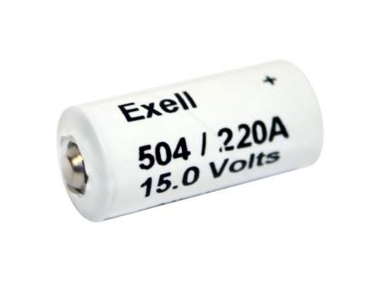 Exell Battery 504A NEDA 220A Alkaline 15V