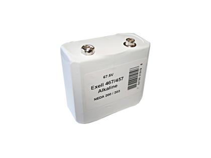 Exell Battery 457/467 NEDA 203 Alkaline 67.5V