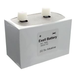 Exell Battery 763 NEDA 710 Alkaline 22.5V
