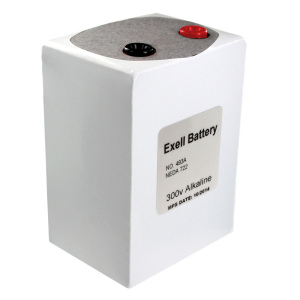 Exell Battery 493A NEDA 722 Alkaline 300V Right View