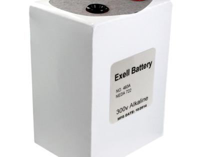 Exell Battery 493A NEDA 722 Alkaline 300V