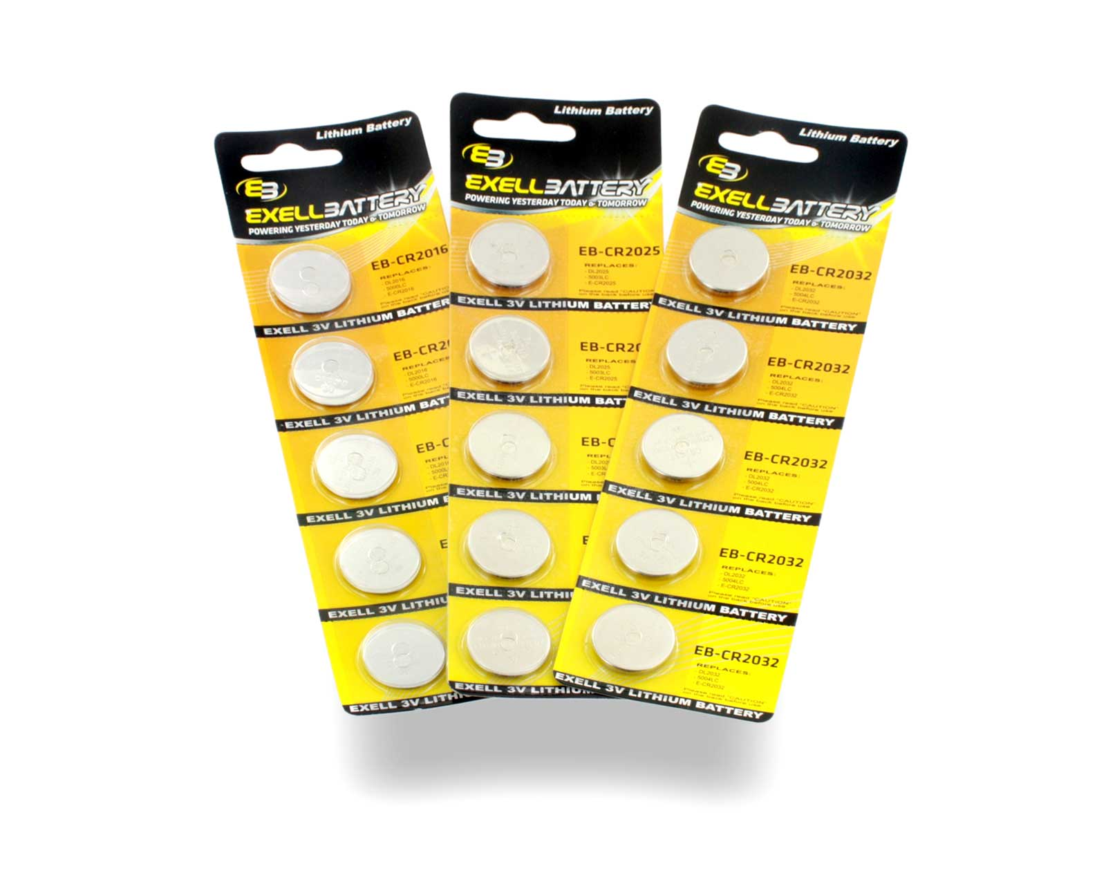Exell Battery Coin Cell Batteries